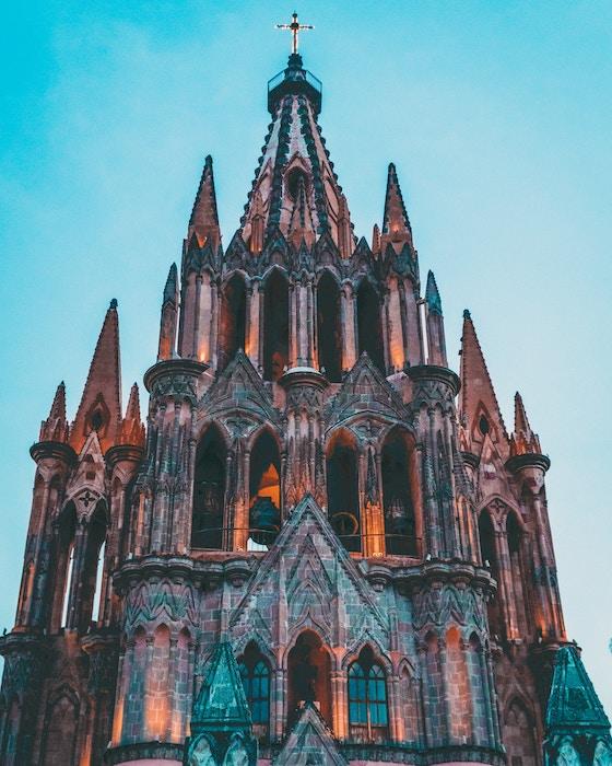 An edited image of Sagrada Familia