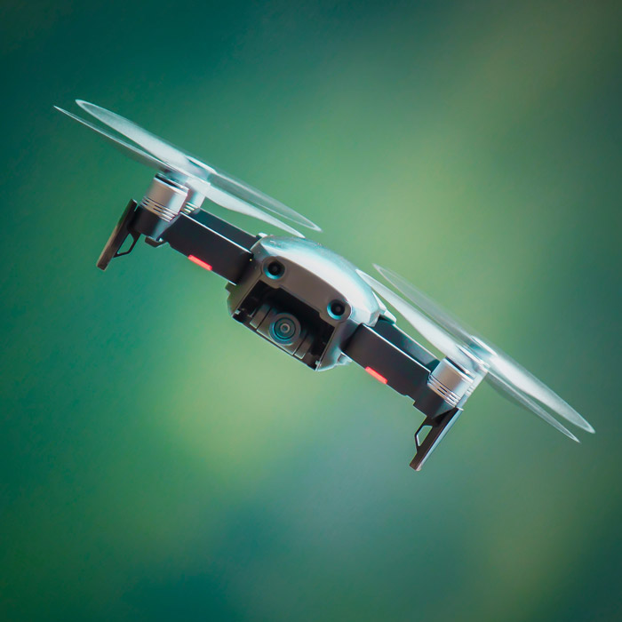 Photo of a drone flying