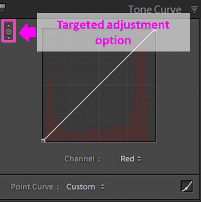 Screenshot of targeted adjustment option