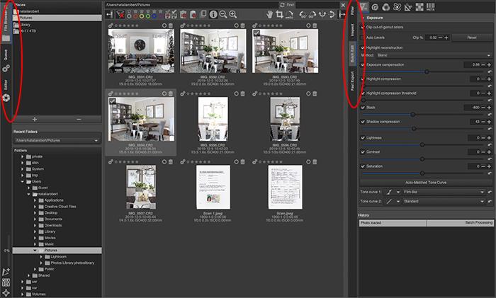 a screenshot of rawtherapee interface