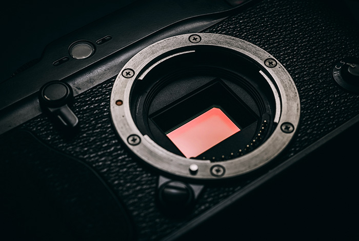 close up of a camera sensor