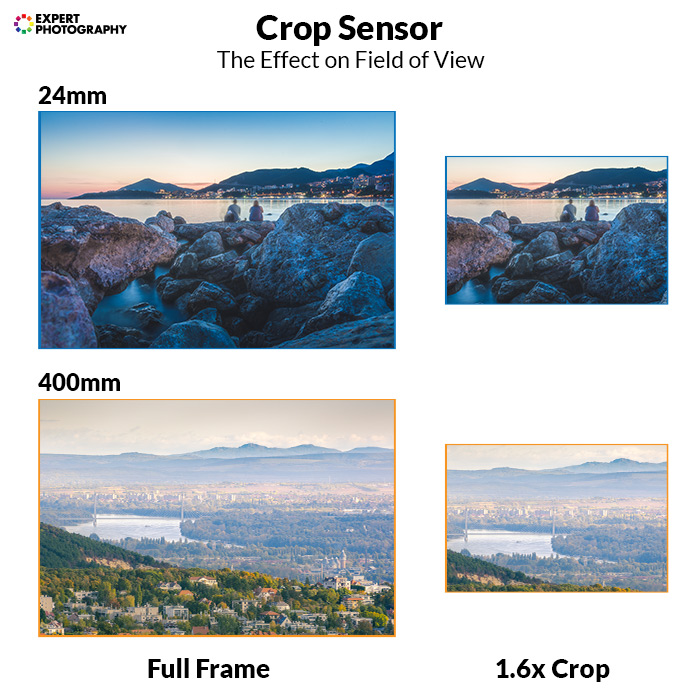 infographic explaining crop sensor