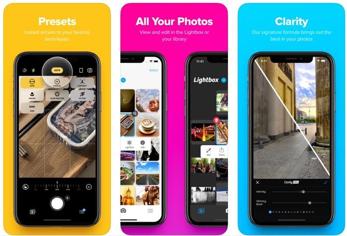 a screenshot of the Camera+ 2 homepage