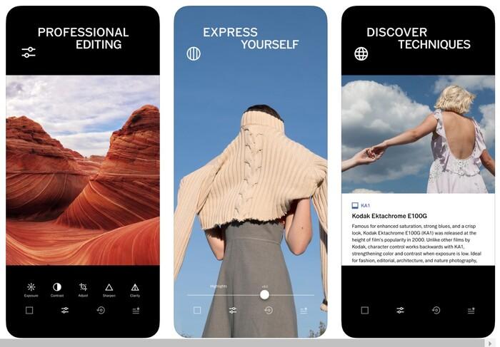 a screenshot of VSCO app