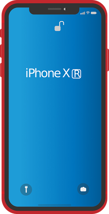A photo of the iPhone XR