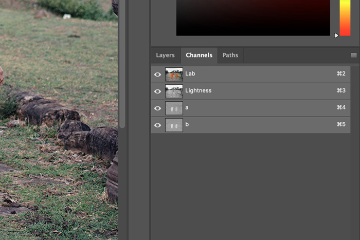 a screenshot showing how to use Lab Color in Photoshop