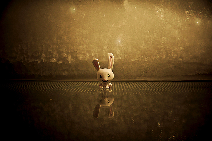 Atmospheric animated image of a bunny created with Animator's Toolbar