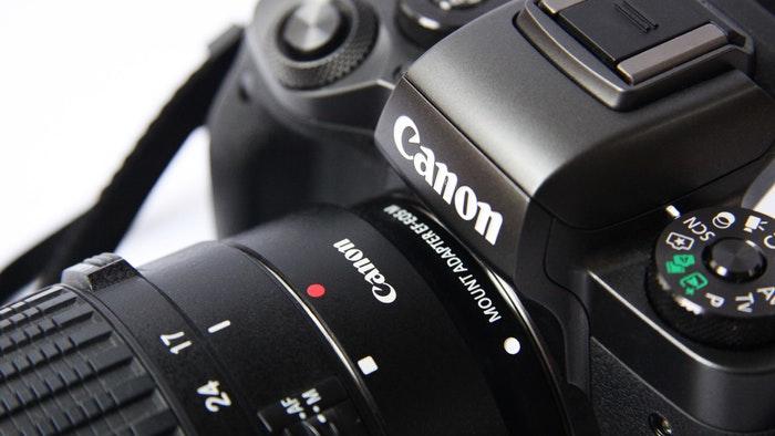 Close up of a Canon camera