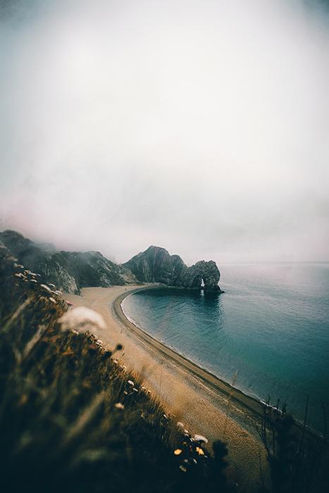 Landscape shot of a rocky beach