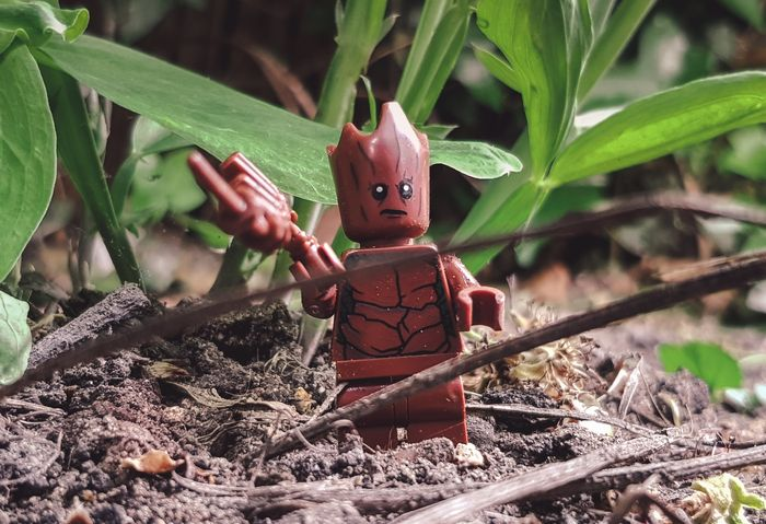 Photo of a lego figure in the grass