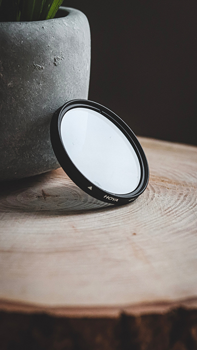 Photo of a lens filter