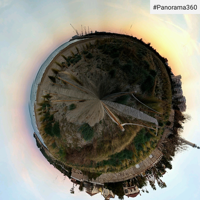 Cool tiny planet made with Panorama 360