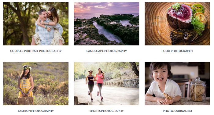 A screenshot from SLR lounge Photography 101 video course menu