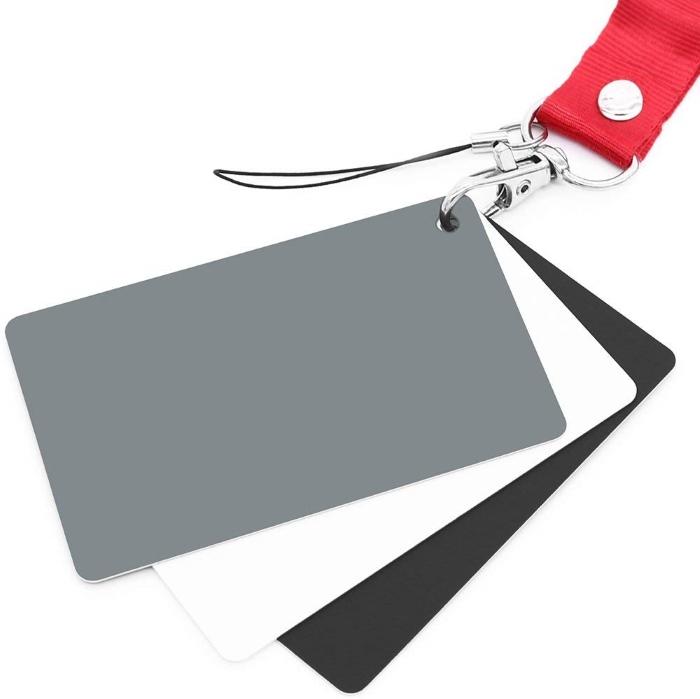 Set of grey cards