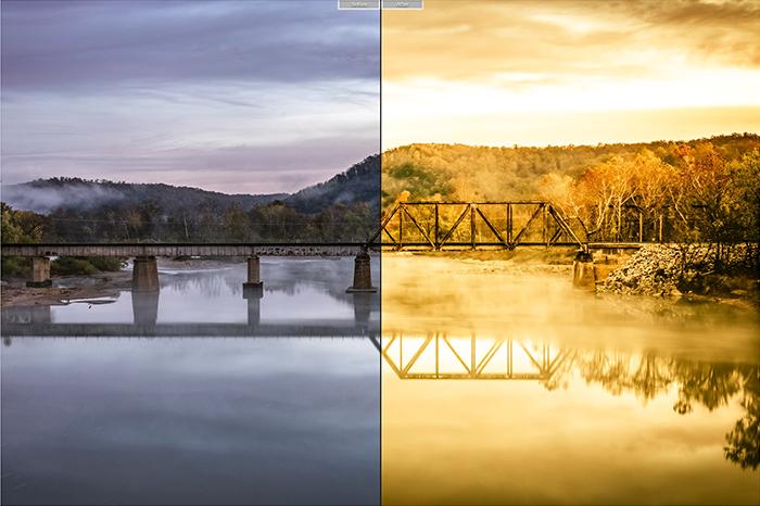 Pretty landscape photo edited with Alkaline Storm Lightroom presets