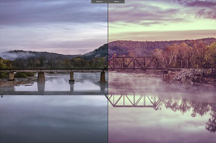 Pretty landscape photo edited with Landscape Effect 2 Lightroom presets