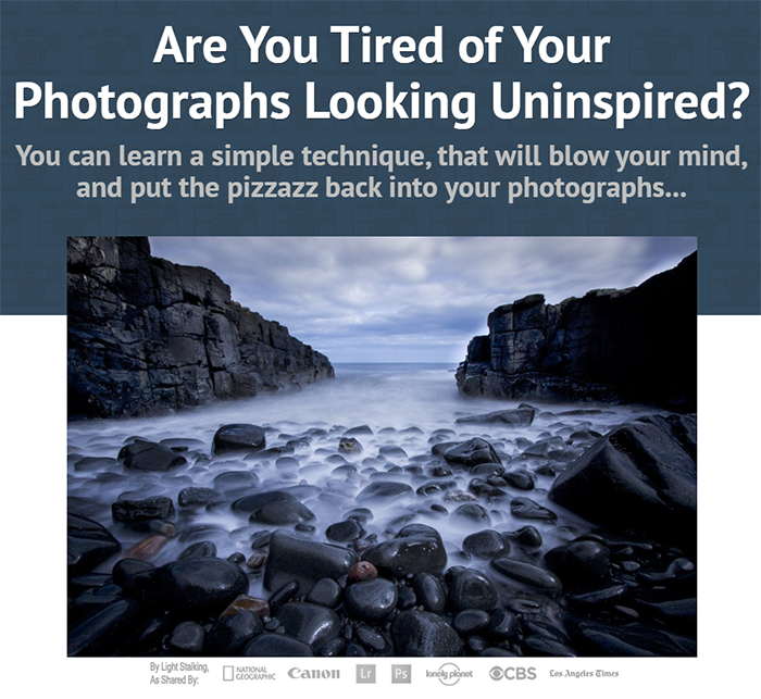 Sales page of the Complete Guide to Long Exposure Photography