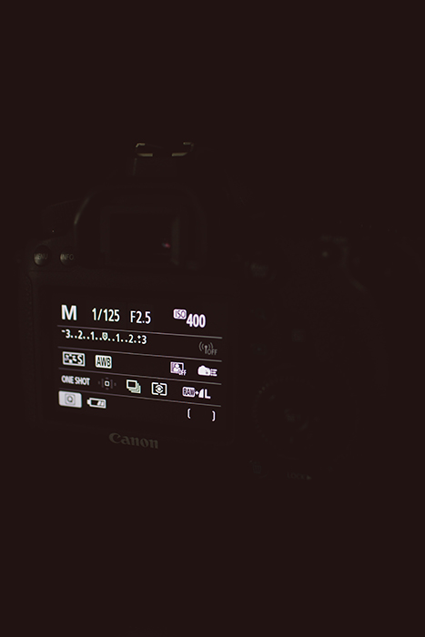 A screenshot of changing camera settings for milky way time lapse
