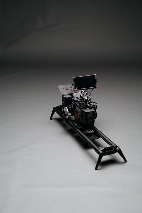 A motorised camera slider