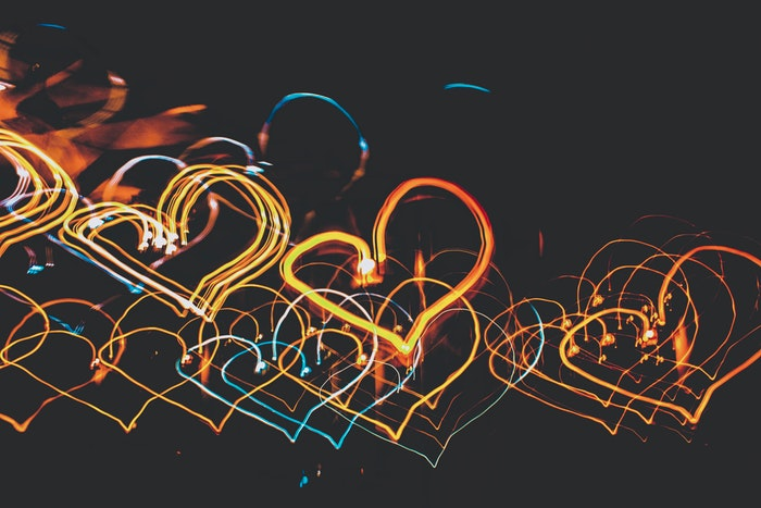 heart shaped light painting