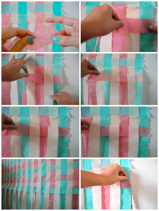 grid showing how to make colorful diy photography backdrops