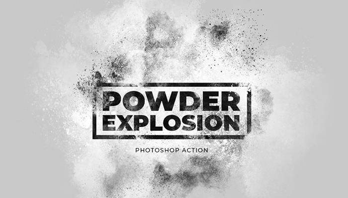Screenshot of Free Powder Explosion Photoshop Action