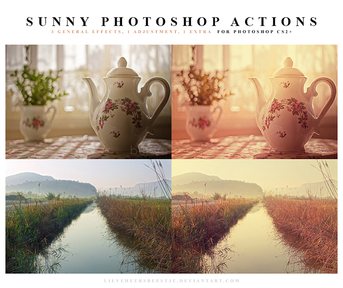 screenshot of Sunny Photoshop Actions