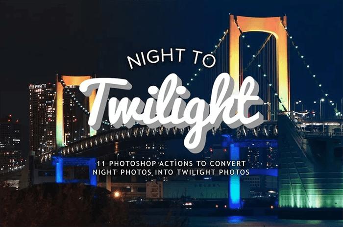 Night to Twilight Photoshop Action