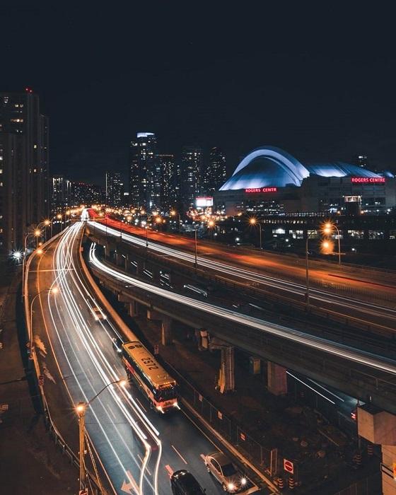 Light Trails Photo by Jonathan Adediji