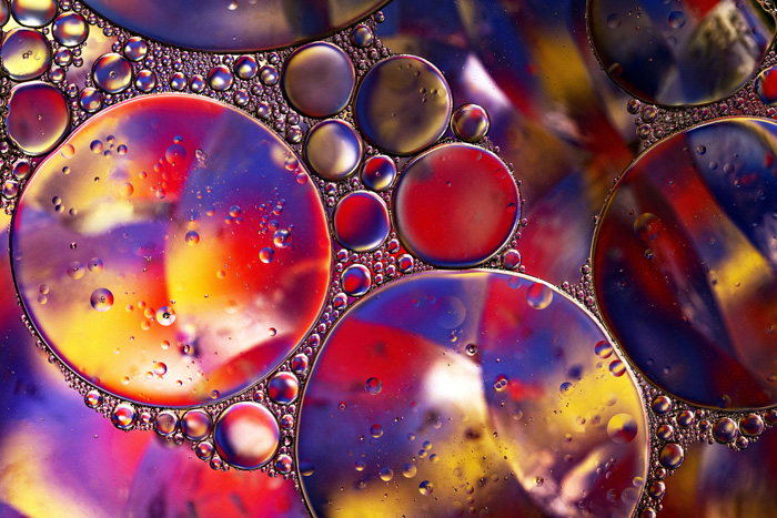 colorful oil and water photo