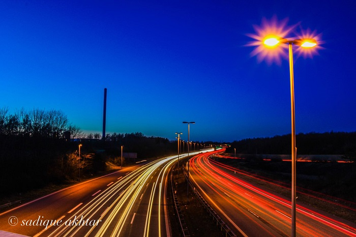 Light Trails Photo by Sadique Mohammad Akhtar