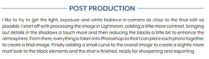 Screenshot of the lit ebook by shotkit post production page