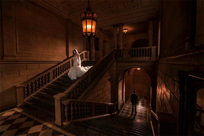 Conceptual wedding portrait