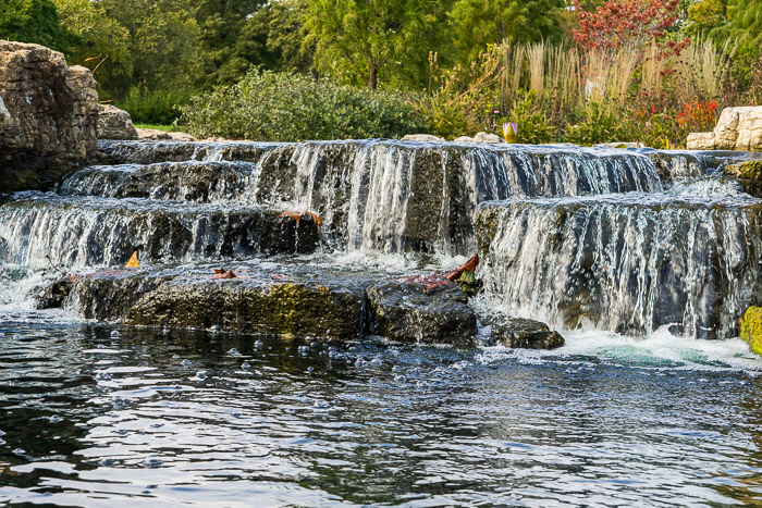 Long exposure waterfall with slight blur.