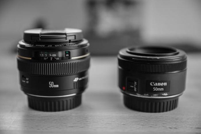 Two 50mm prime lenses
