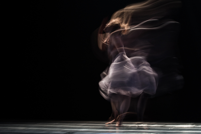 Photo of a dancer with slow sync flash