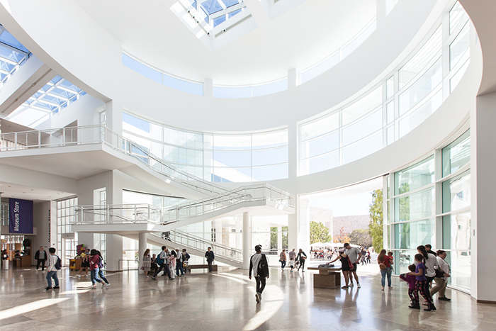 Bright and airy interior of a public building