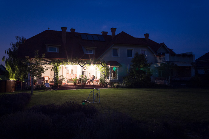 Photo of a house during nighttime