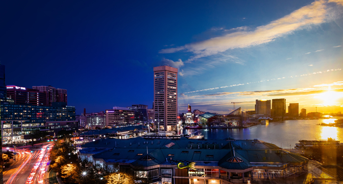 Day to night photography of a cityscape