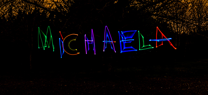 Light graffiti photography by Stuart