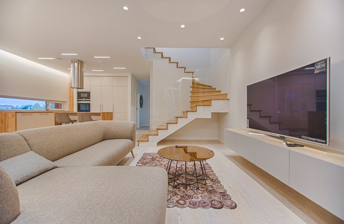Bright and airy living room photo