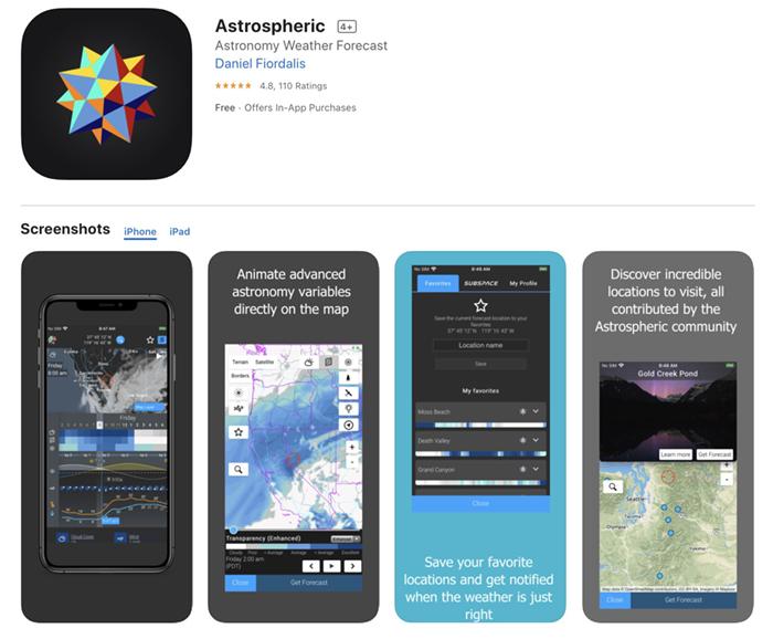 Screenshot of Astrospheric