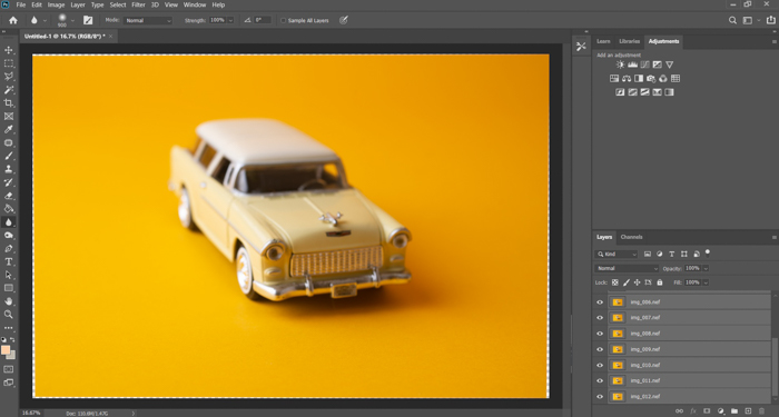 A screenshot of Adobe Photoshop interface