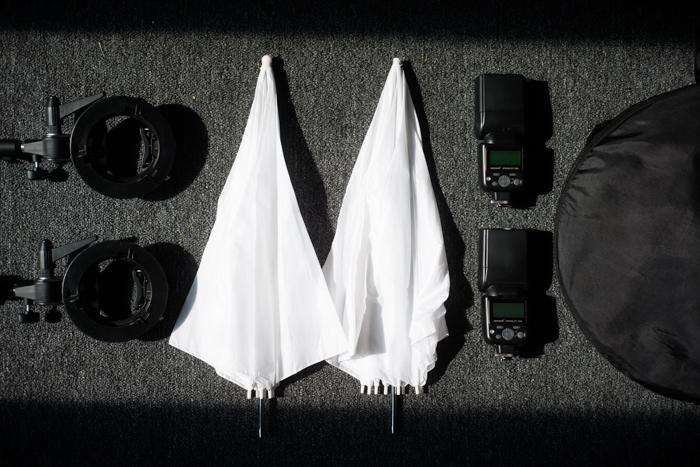 Équipement d'éclairage de photographie Flatlay