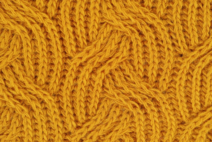 Yellow knit pattern