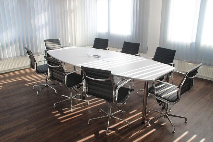An empty office desk