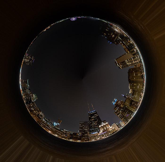 A tiny planet photo