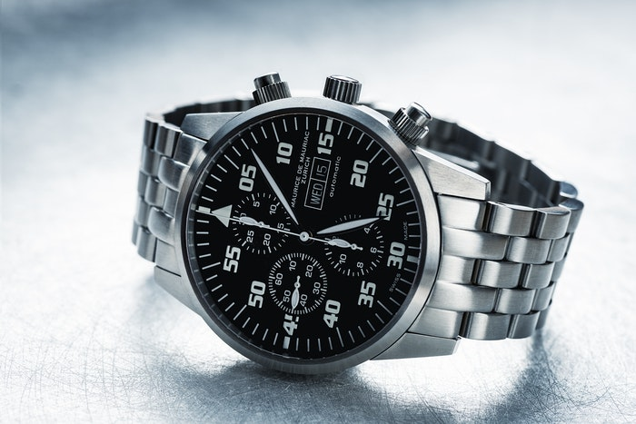 A product shot of a watch
