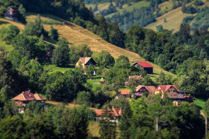 Transylvanian toy village.