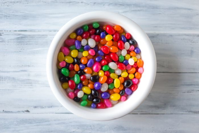 a bowl of colorful candies